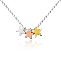 Three Floating Stars Childrens Necklace