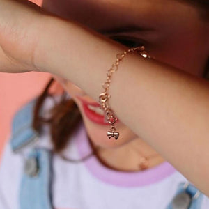 Ribbon Bow Charm Rose Gold