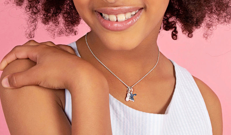 Girl's Bunny Pendant on Children's Necklace