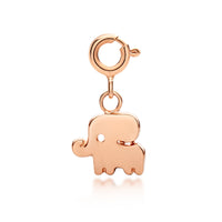 Little Good Luck Elephant Charm - Rose Gold