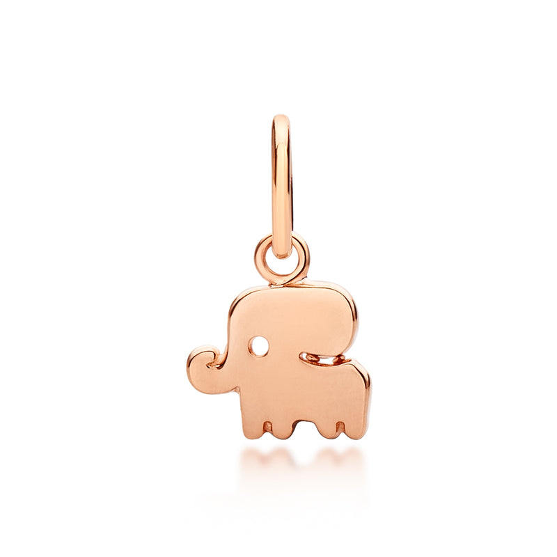 Children's Lucky Elephant Pendant Rose Gold