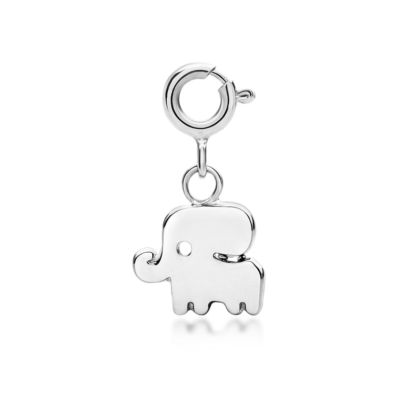 Little Good Luck Elephant Charm - Silver