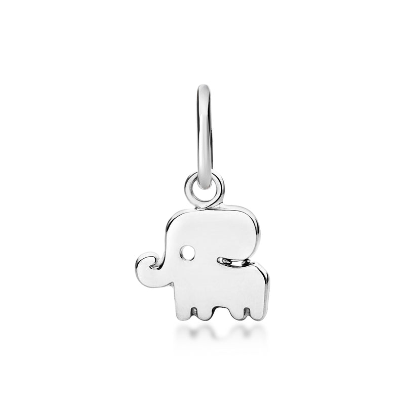 Good Luck Elephant Pendant Silver