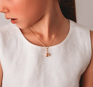Twinkle Bell Pendant - Rose Gold Vermeil