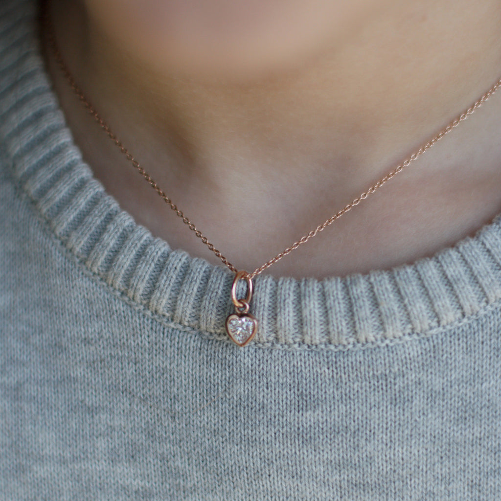 Girl's Rose Gold Heart Pendant