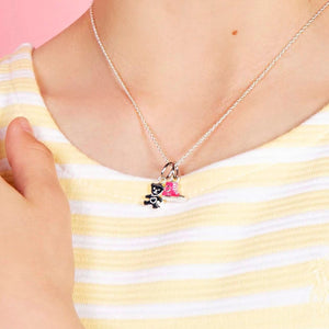 Girl's Teddy Pendant on sterling silver necklace