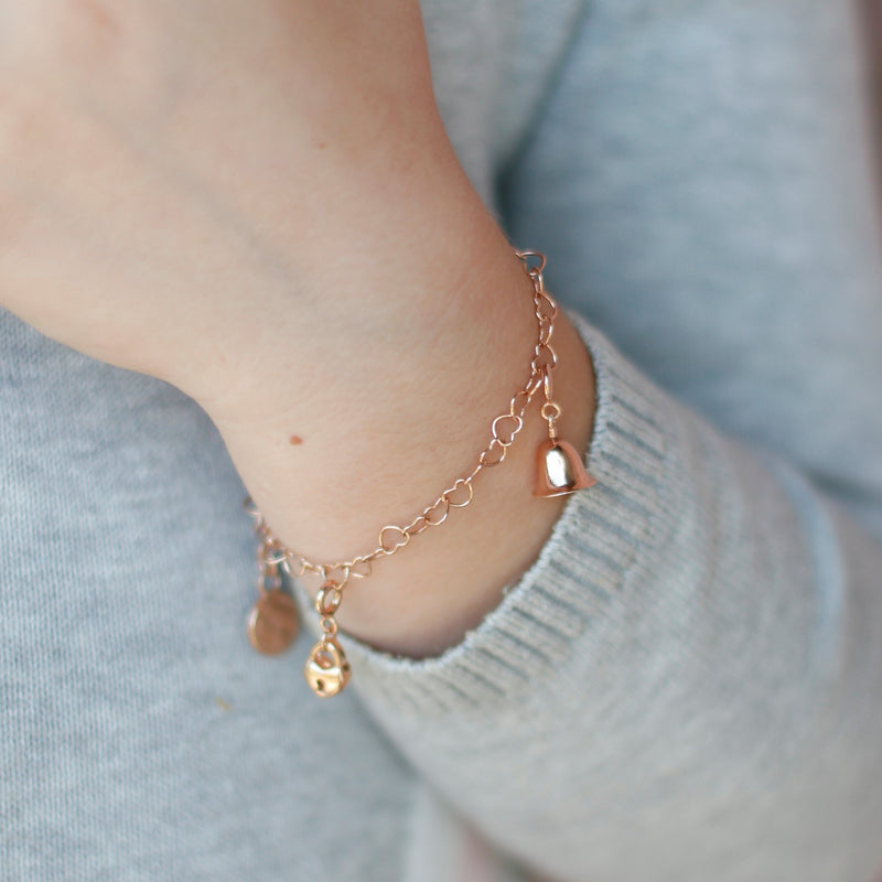 Children's Bell Charm Rose Gold