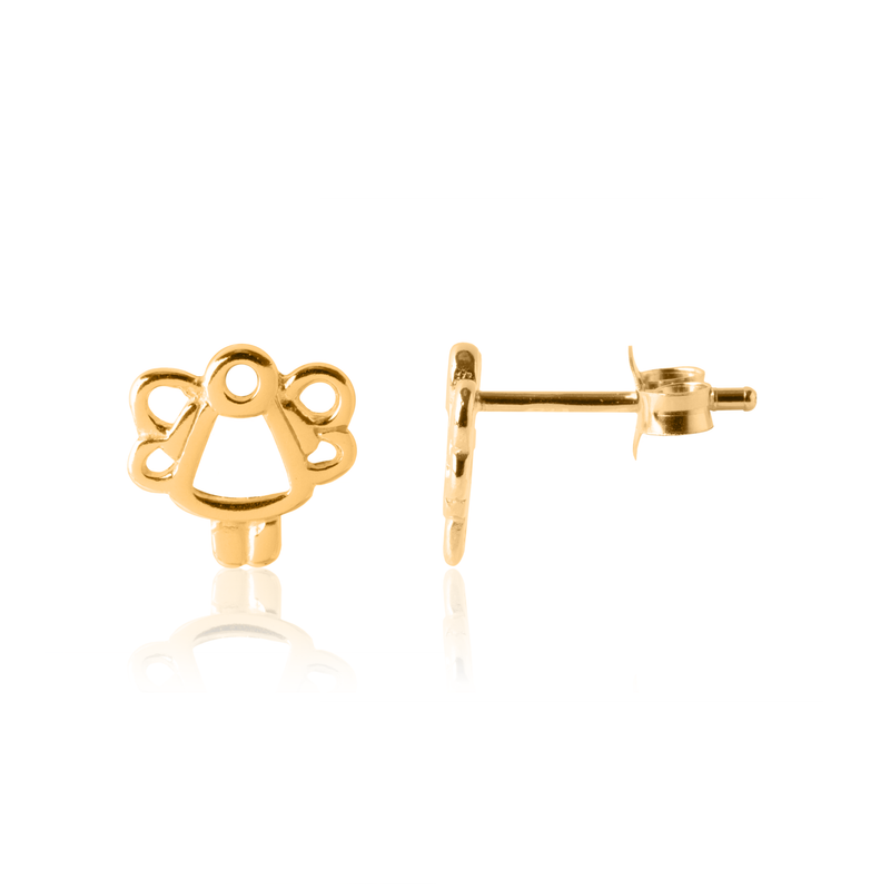 Gold Angel Earrings for children