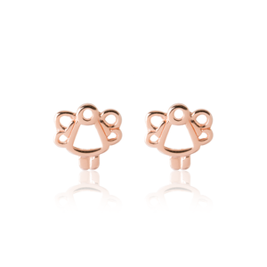 Children's Rose Gold Angel Earrings