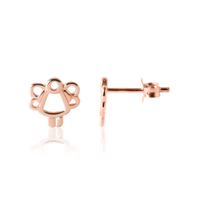 Girl's Angel Earrings in 18 karat rose gold