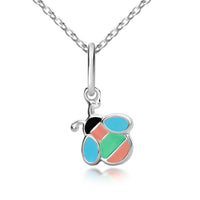 Girl's Bee Pendant & Necklace - Sterling silver