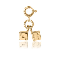 Kid's Gold Jewellery - Children's Dice Charm
