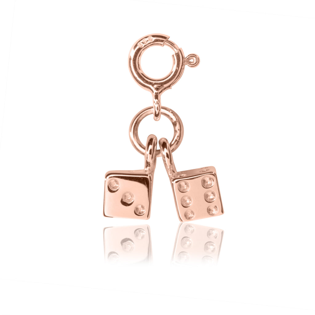Girl's Dice Charm - Rose Gold charms for girl's