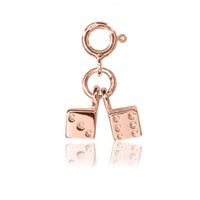Twinning Dice Charm - Rose Gold