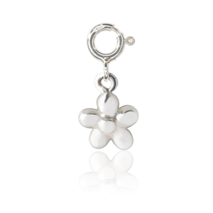 Flickering Flower Charm - Silver
