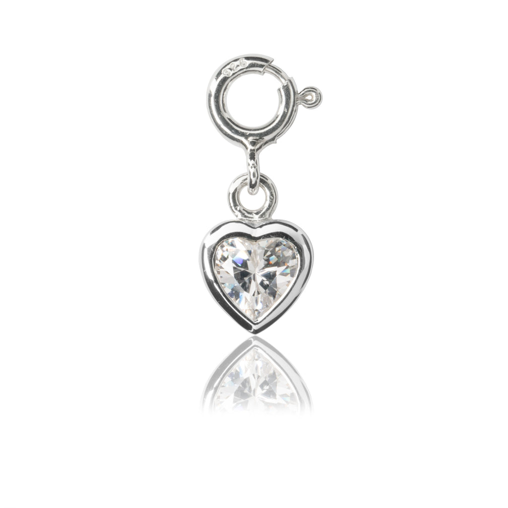 Children's Heart Charm - Sterling silver