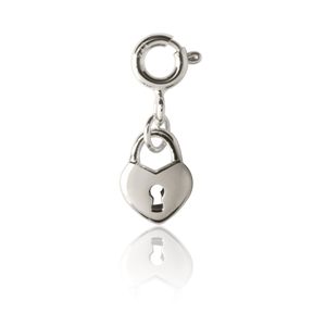 children's Love Lock Charm - sterling Silver