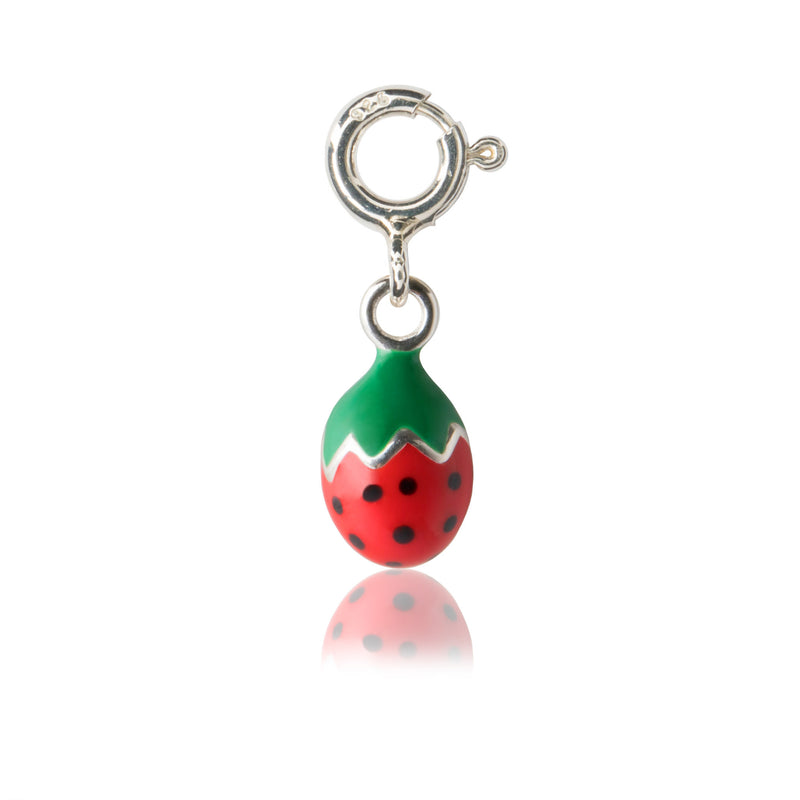 Girl's Strawberry Charm - Enamel children's charms