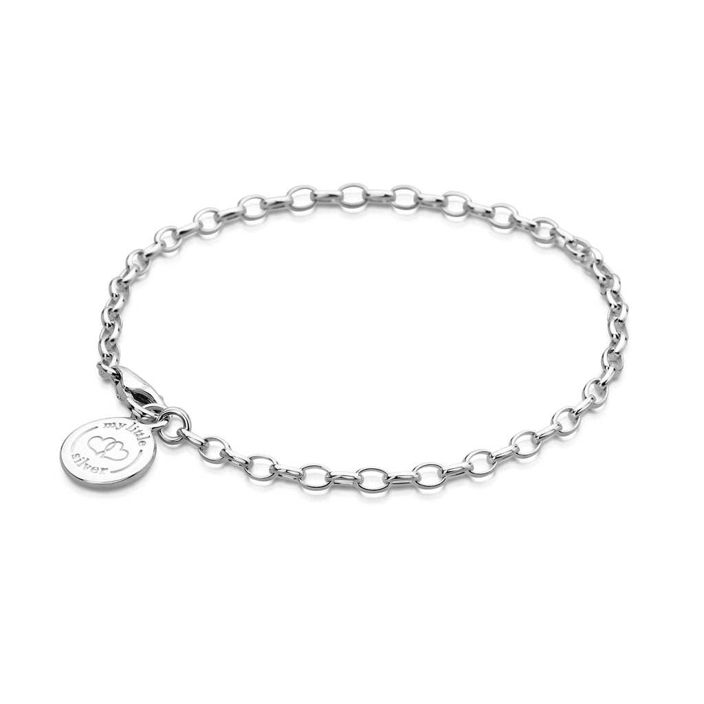 Children's Charm Bracelet for girl's - Sterling Silver