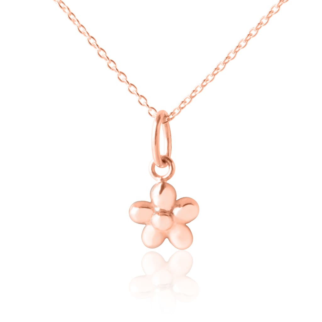 Children's Flower Pendant & Necklace - Rose Gold