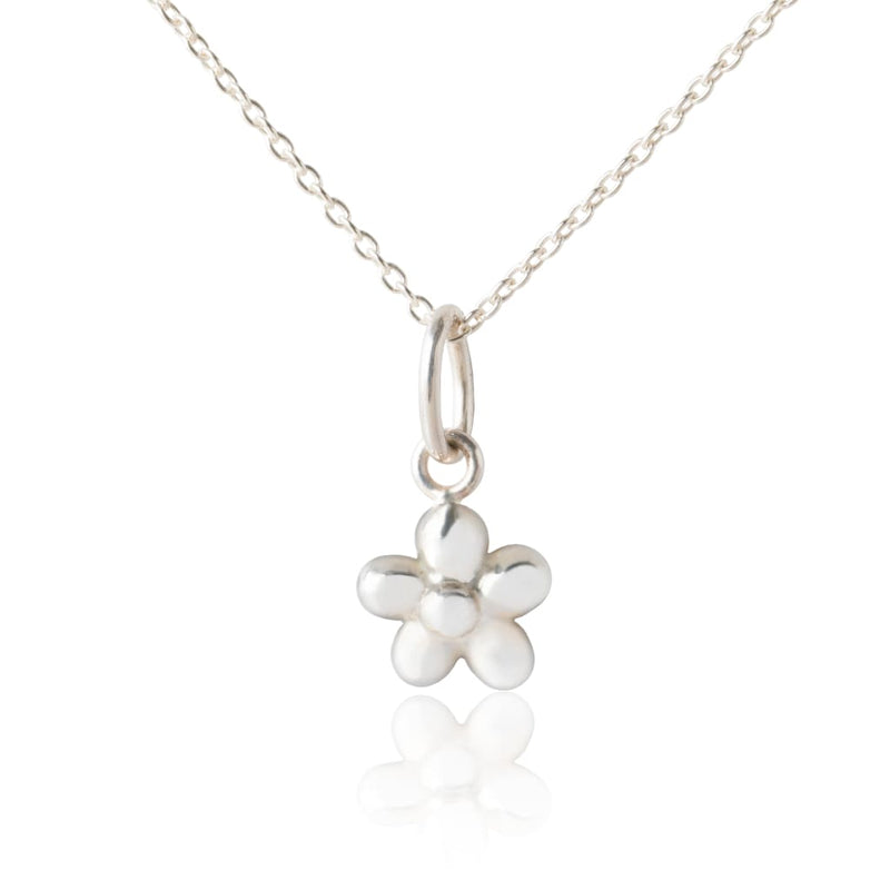 Children's Silver Flower Pendant & Necklace - Girl's Necklace