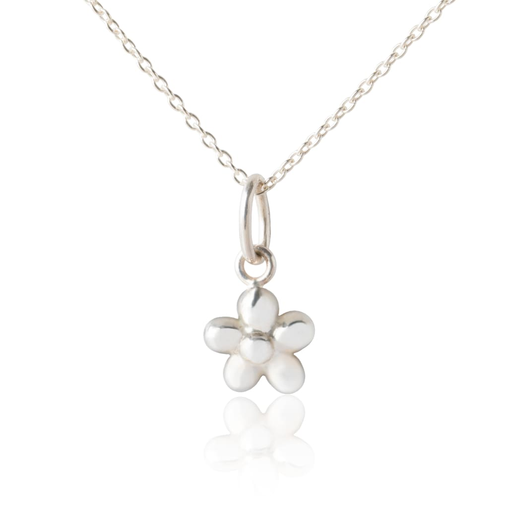 Flickering Flower Pendant - Silver - No Gift Box - Pendants