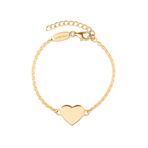 Glossy Hearts Bracelet - Yellow Gold Vermeil