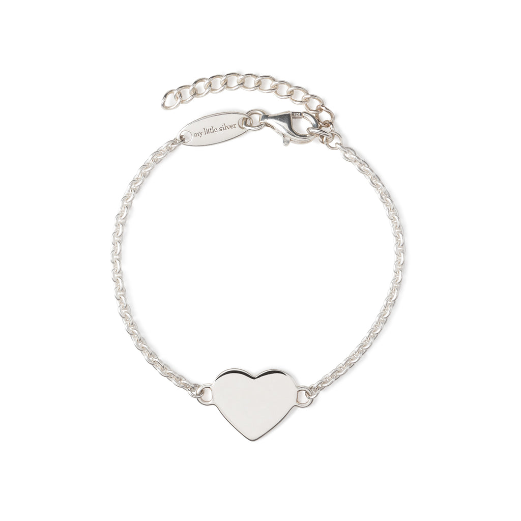 Children's Heart Bracelet - Silver engraveable bracelet
