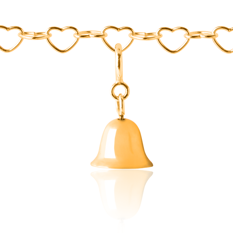 Children's Twinkle Bell Charm Gold