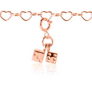 Twinning Dice Charm Rose Gold