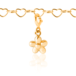 Flower charm on Girls Charm Bracelet