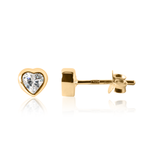Gold Heart Earrings - Children's heart earrings