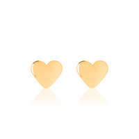 Children's Heart Earrings - Kid's Gold Jewellery