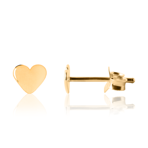 Gold children's heart earrings - Kid's earrings