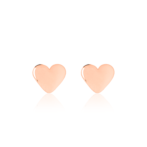 Children's Rose Gold Heart Earrings