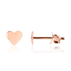Teen heart earrings in Rose Gold - Children's earrings