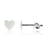 Heart Earrings for girls in sterling silver