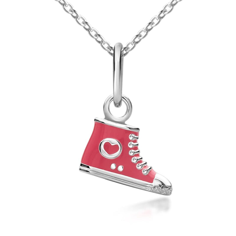 Children's High-Top Shoe Pendant on adjustable necklace