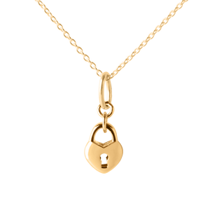 Love Lock Pendant & Necklace - Yellow Gold Vermeil
