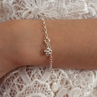 Silver Flickering Flower Charm