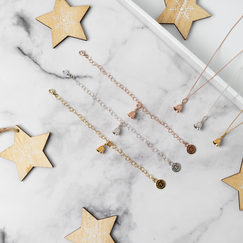 Twinkle Bell Charm - Rose Gold Vermeil