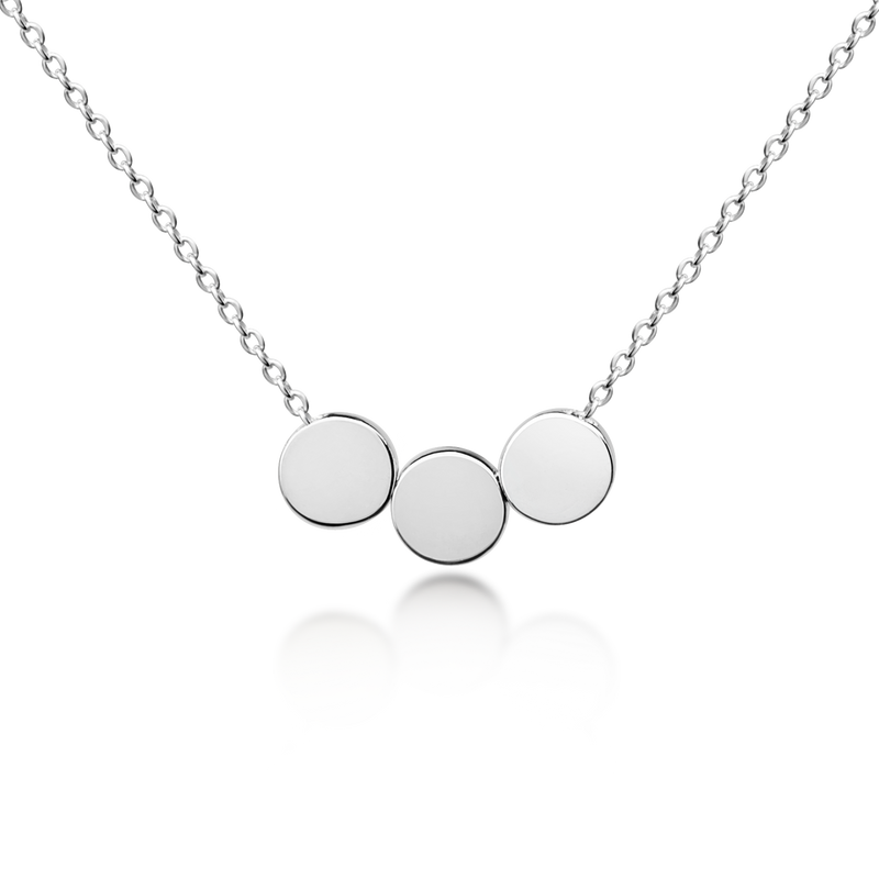 Three Floating Circles Necklace - Sterling Silver NEW