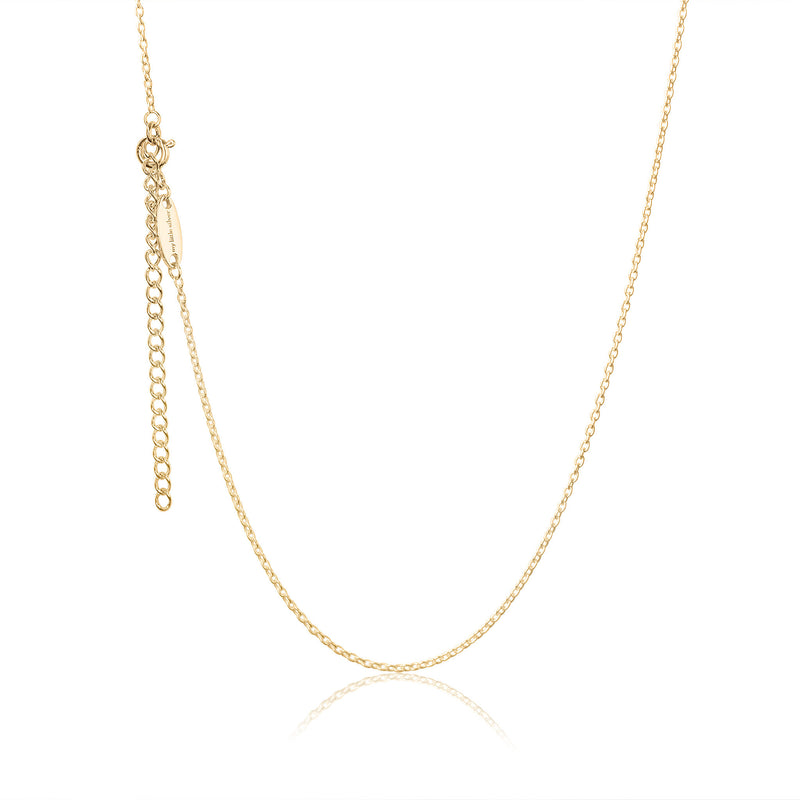 Adjustable children's necklace - 18 karat gold