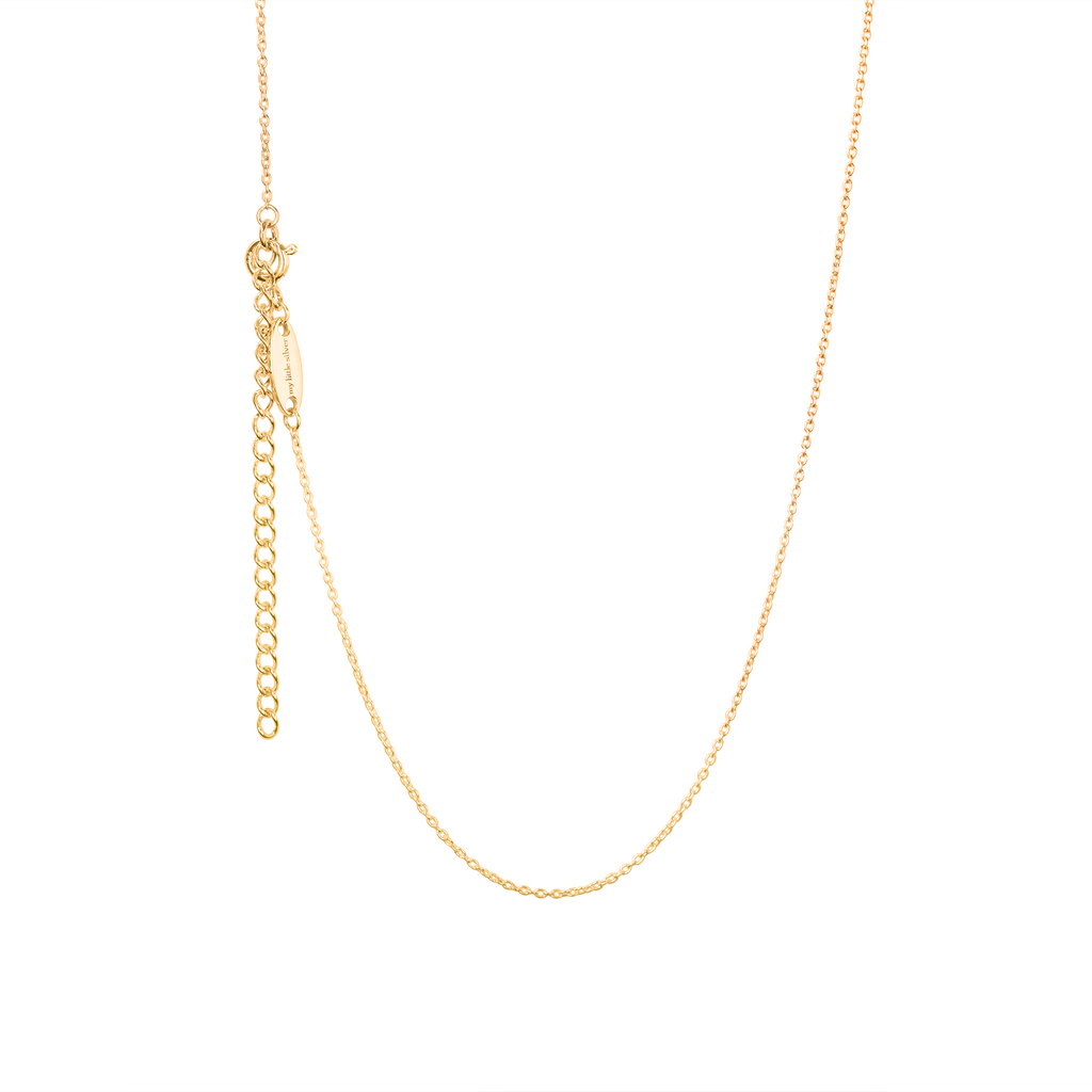 Flickering Flower Pendant & Necklace - Yellow Gold