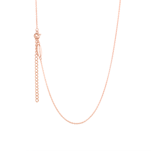 Children's Rose Gold Necklace for Bunny Charm