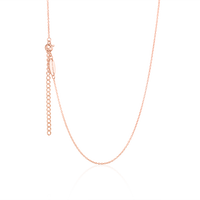 Children's adjustable necklace in rose gold