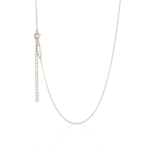 Adjustable sterling silver necklace