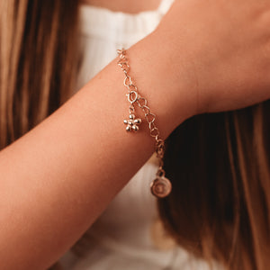 Flickering Flower Charm - Rose Gold Vermeil