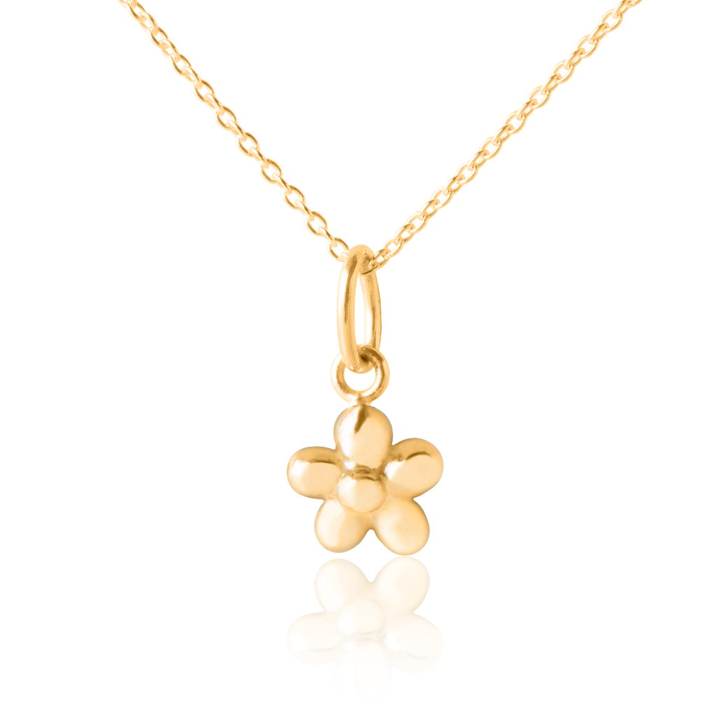 Flickering Flower Pendant & Necklace - Gold