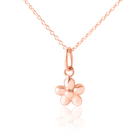 Children's Rose Gold Flower Pendant